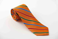 Orange with red, green and royal stripes (S229)