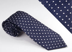 Navy Blue Field With Medium White Dots (P503)