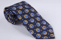 "Navy with Royal Blue and Gold ""Eyes"" (P549)"