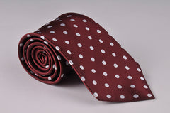 Burgundy With White Dots (P579)