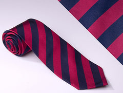 Regal Red and Royal Blue Medium Stripes (S103)