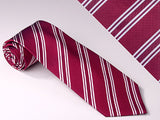 Narrow And Wide Maroon And Narrow White Stripes (S108)