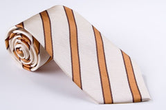 Narrow Orange Pinstripe of Brown with Cream Stripe (S159)