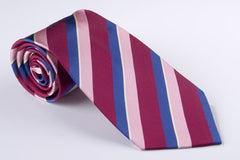 Medium Wine with Mauve and Navy Blue  and Yellow Pinstripe (S160)