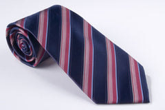 Large Navy, Medium Red and Small Light Blue Stripe (S182)