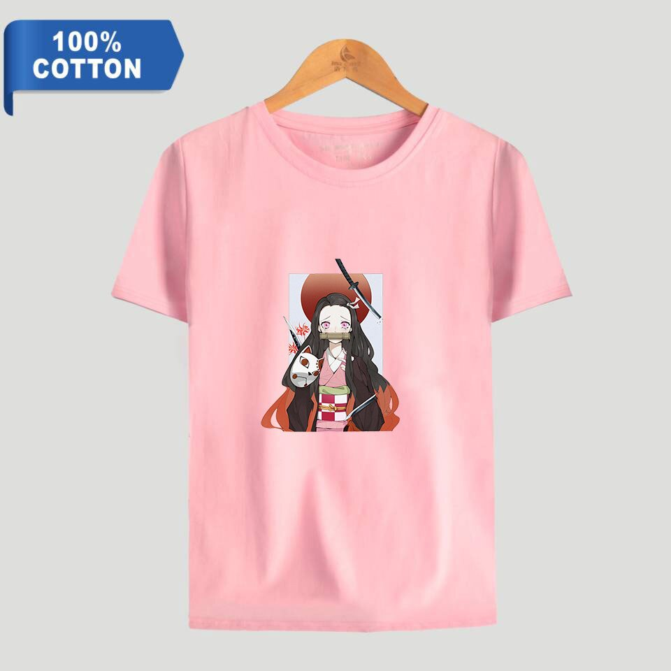Demon Slayer: Kimetsu no Yaiba 100% O-Neck Short-Sleeve Cotton T-Shirts for men/women - lovelogostore