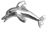 Tropical Seas® Jewelry Collection Sterling Silver Dolphin Charm