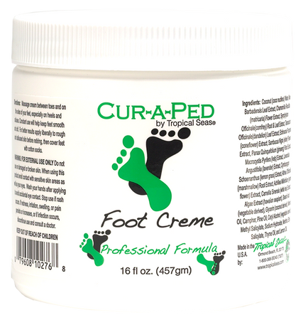 Cur-A-Ped Podiatrist recommended foot cream treatment for diabetic patients, anhidrosis, hyperhidrosis, bromidrosis, skin dryness, and fissured skin.