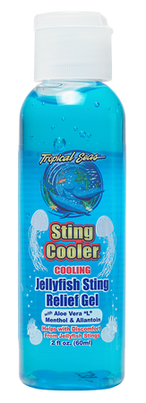 Sting relief gel. Jellyfish sting relief. Man-o-war sting relief, sand fleas relief, relief from minor insect bites.