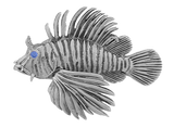 Tropical Seas® Jewelry Collection Sterling Silver Lionfish Pendant