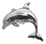 Sterling Silver Jumping Porpoise Pendant by Tropical Seas Collection