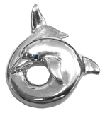 Sterling Silver Twisted Porpoise Pendant by Tropical Seas Collection