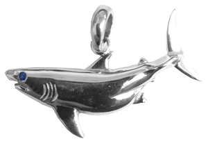 Tropical Seas® Jewelry Collection Sterling Silver Great White Shark Pendant