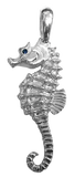 Sterling Silver Seahorse Pendant by Tropical Seas Collection