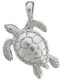 Reef Safe Sun® Jewelry Collection Sterling Silver Turtle Pendant