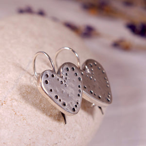 Sterling silver Heart Earrings - The Art Of Love E7000