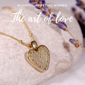 Golden Brass Heart Necklace - The Art Of Love NK7000