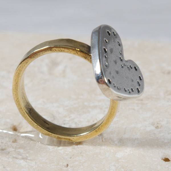 Dainy Silver Brass Heart Ring Women support - The Art Of Love RKS2340