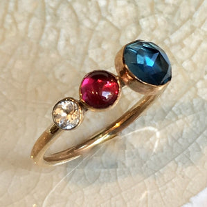 Birthstones ring, custom ring, family ring, stacking ring, Mothers ring, Gold ring, Gold Filled ring, multi stone ring - Say anything R2559