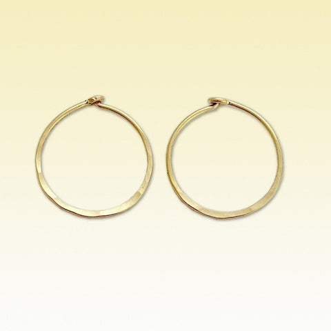 Simple Hoop Earrings, Gold Filled earrings, Hoop Earrings, Hammered Earrings, dainty earrings, little hoops, dainty - Keep it simple E90003