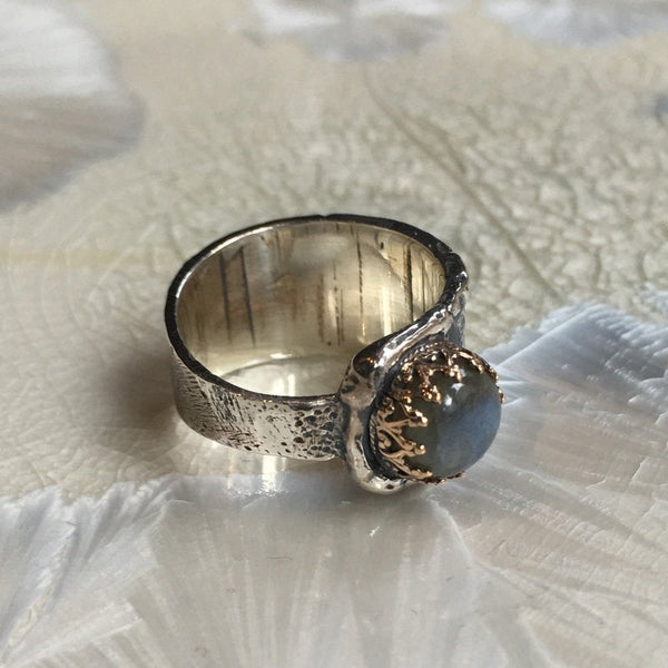 organic filigree ring,
