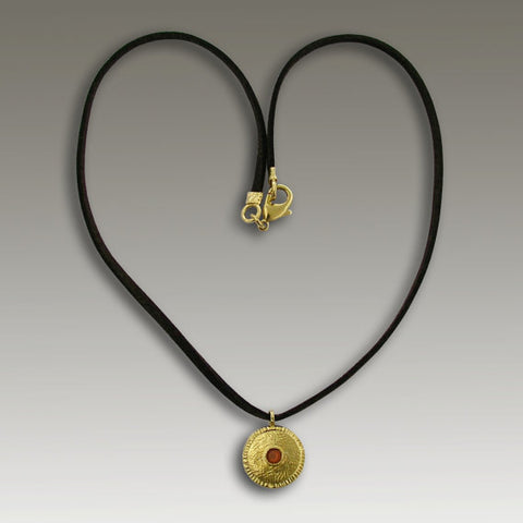 14K gold ruby necklace