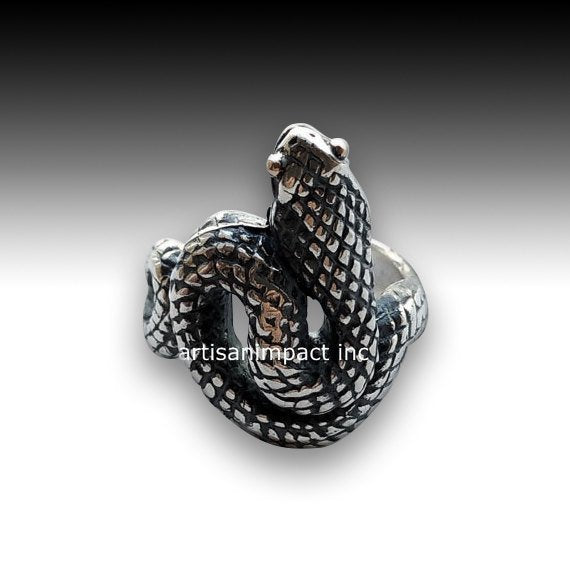Sterling silver ring, snake ring, bohemian ring, gypsy ring, snake band, hippie ring, long snake ring, unique silver ring - Eden R2072