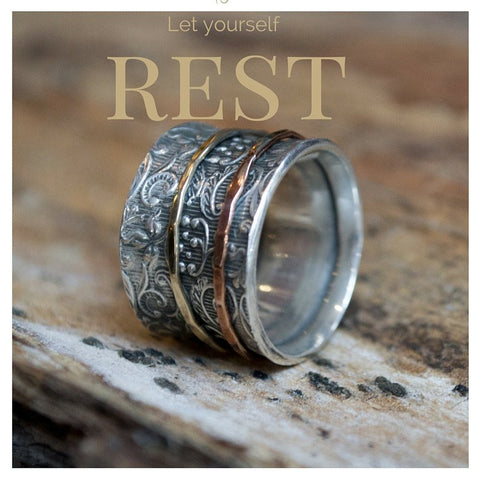 Silver Wedding ring, infinity ring, eternity band, textured ring,  mothers ring stackable, thumb ring, anniversary  - A way of life R1209A