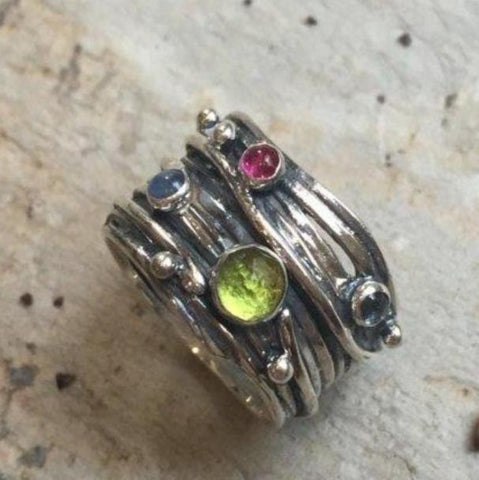 Birth stones mothers ring