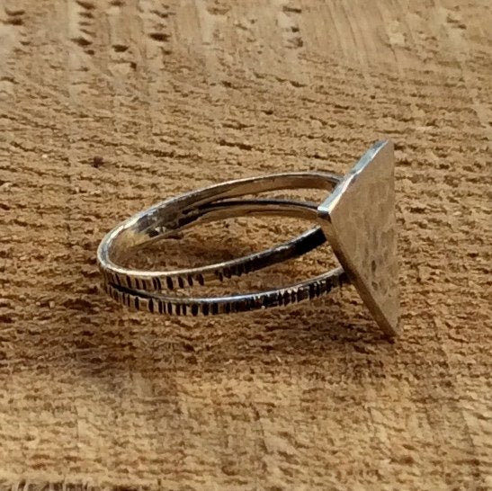 Triangle ring, geometric ring, silver ring, stacking ring, skinny ring, simple silver ring, dainty ring, delicate ring - It Was You R2292
