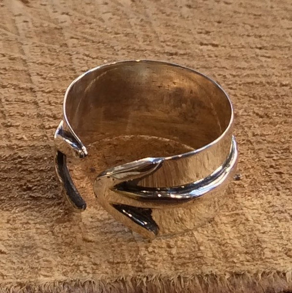Wide silver band, wide ring, simple and casual ring, unisex band