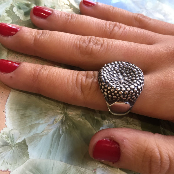 silver big silver statement ring