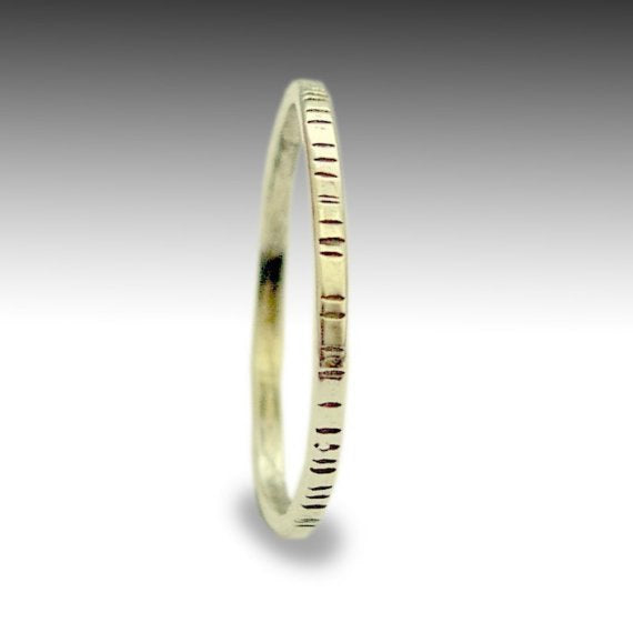Gold band, Wedding band, Thin band, grooved band, 14k yellow gold band, simple band, women's band, simple ring, stacking ring - Time RG1594