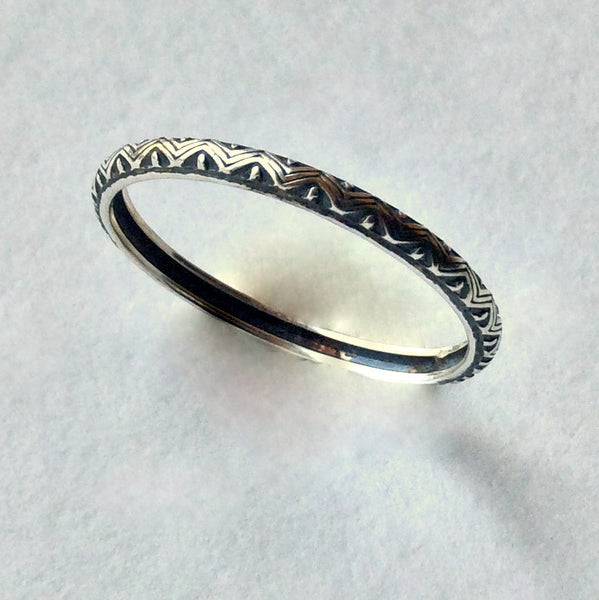 Dainty silver stacking ring