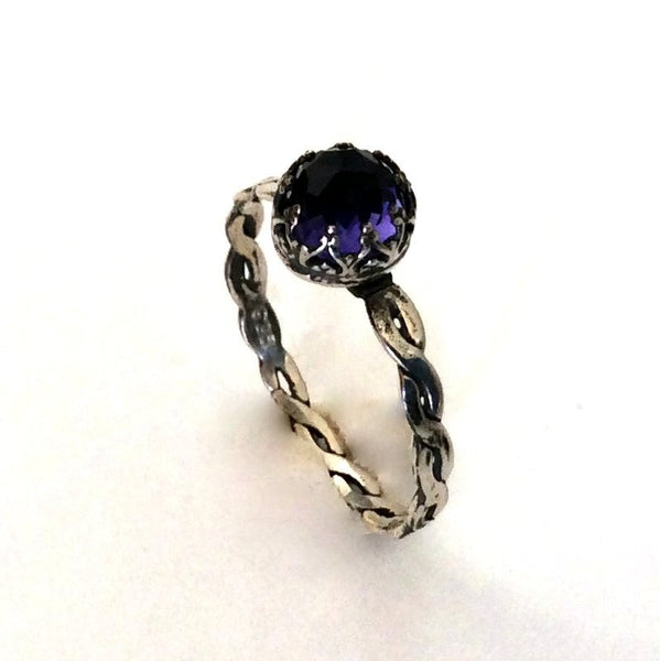 Amethyst Sterling silver Crown ring