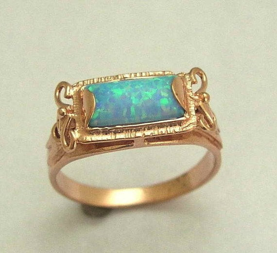 antique style opal ring