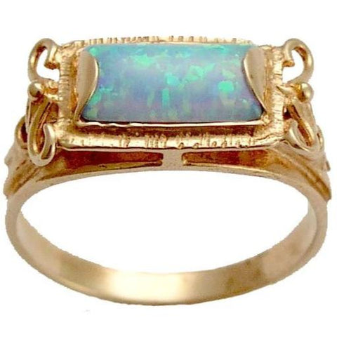 Solid Rose Gold engagement ring, Opal Ring, unique gold ring, gold ring for women, 14k gold ring, boho ring - The sky is the limit. RG1400-2