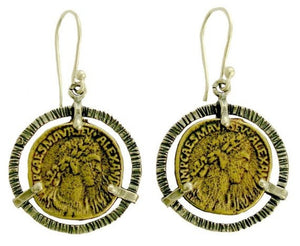 sterling silver coin earrings