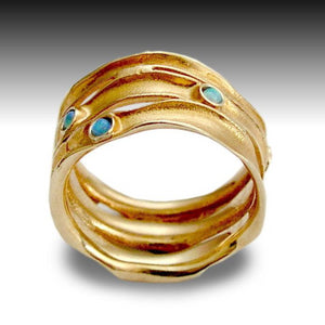 14k Rose Gold Wide Wedding Ring