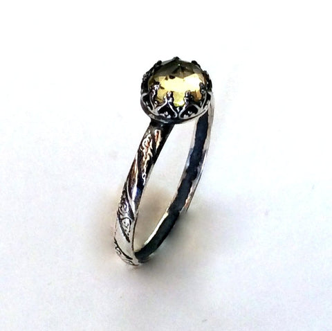 Citrine birthstone simple ring