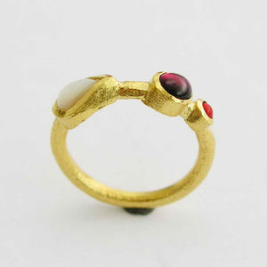 14K gold shell ring