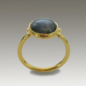 14k gold labradorite ring