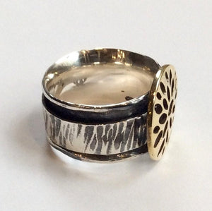 Brass silver ring