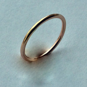 Skinny Gold wedding ring, dainty band, gold filled stacking ring, stacker simple band, gold unisex ring, wedding ring - I Will Follow R2230