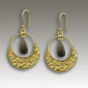 smoky quartz droplet earrings