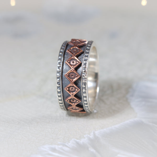 silver copper ring