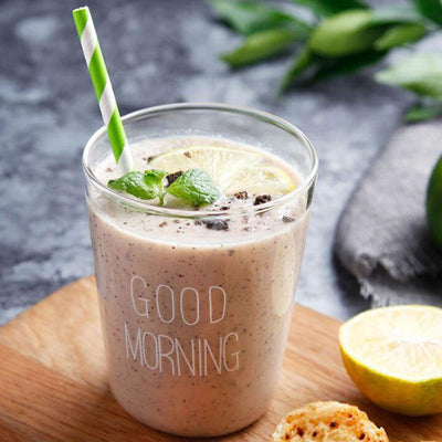 Two Simple Good Morning Glasses 400ml for shake