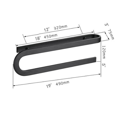 S Type Black Towel Rack sizes