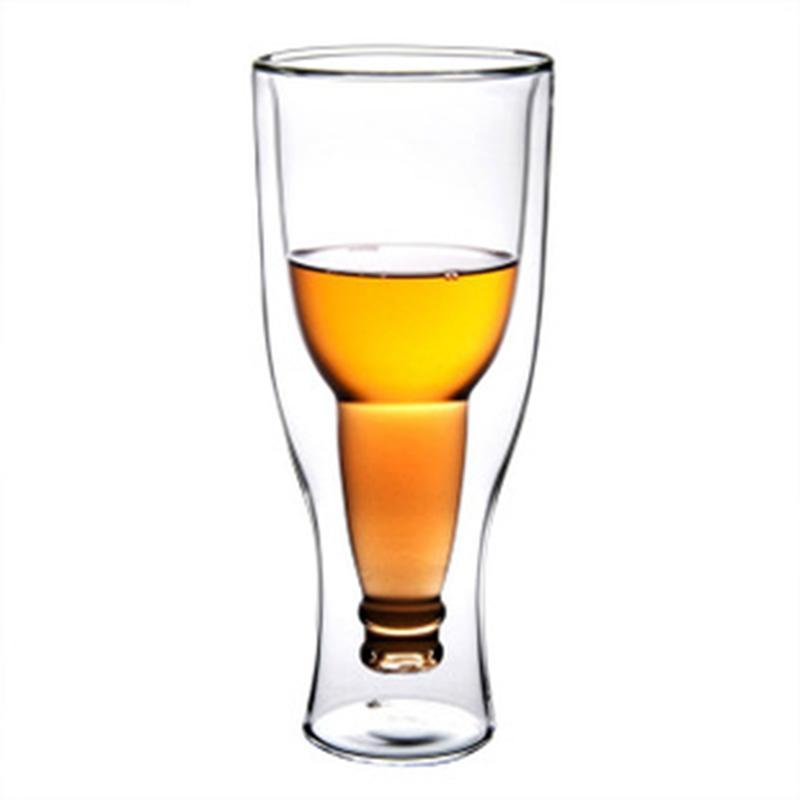 Beveld - Creative Double Wall Glass Beer Cup