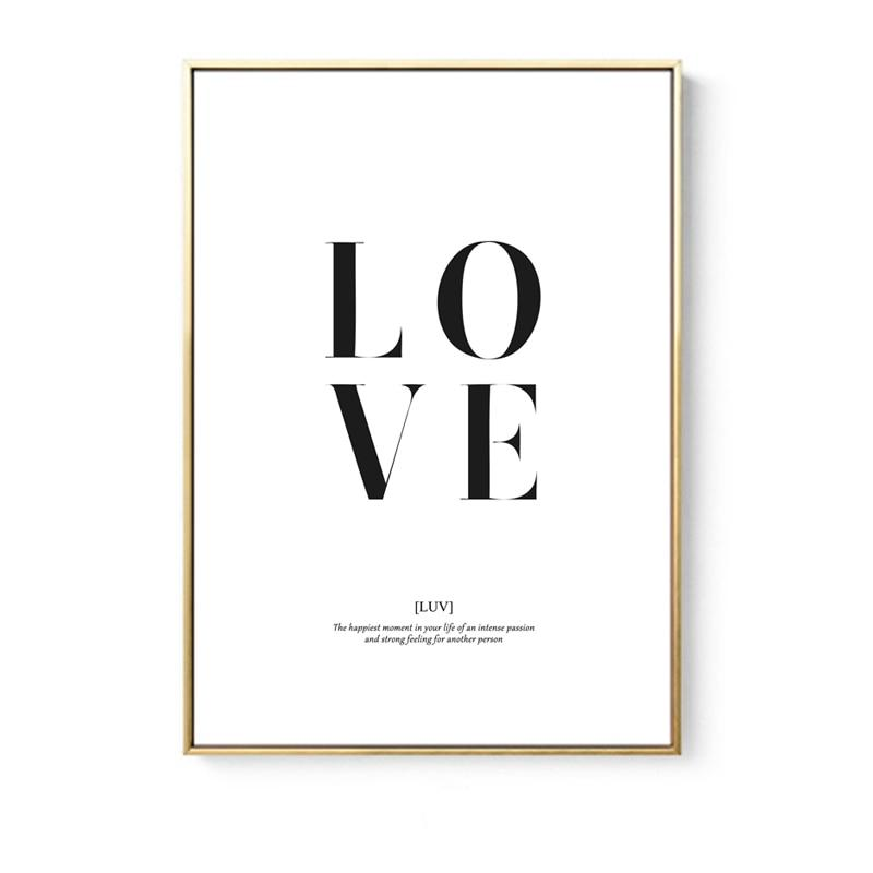 Beveld - Minimalist Love Girl Canvas
